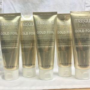 Gold foil peel off face mask lot set of 5
